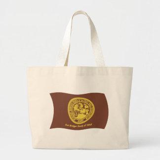 Shoshonebannock-Stamm-Flaggen-Taschen-Tasche Jumbo Stoffbeutel