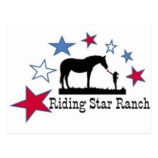 Show, die Sie mit dem Reitstern-Ranch-Logo sich Postkarte