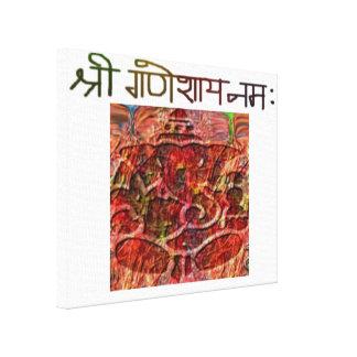 Shree Ganeshay Nama dehnte Leinwand-Druck aus Leinwanddruck