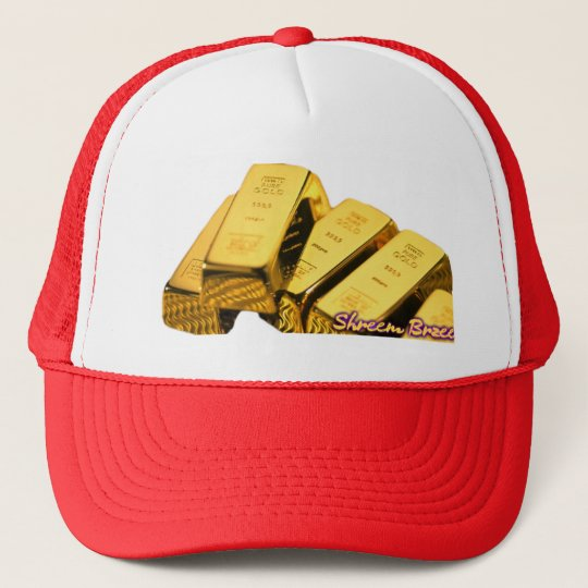 Shreem Brzee Money Mantra Gold Bars Cap Hat Kappe