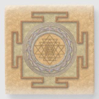 Shri yantra Stein-Untersetzer Steinuntersetzer