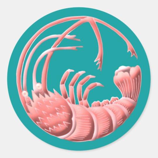 Shrimp Runder Aufkleber
