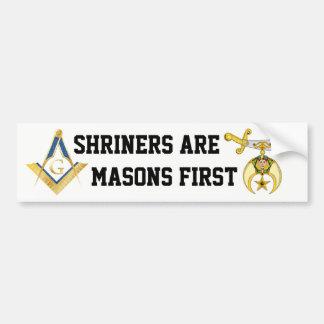 Shriners sind Maurer zuerst Autoaufkleber