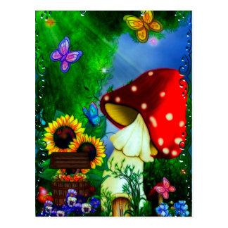 Shroom Sinkkasten-wunderliche Fantasie-Kunst Postkarte