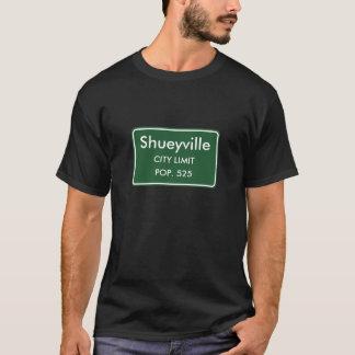 Shueyville, IA Stadt-Grenze-Zeichen T-Shirt