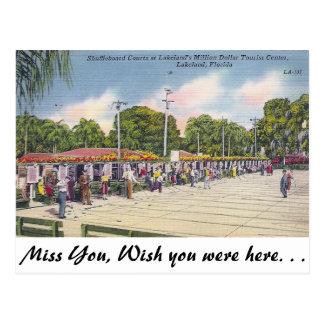 Shuffleboard, Lakeland, Florida Postkarte