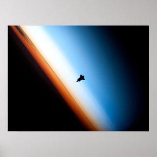 Shuttle-Silhouette Poster