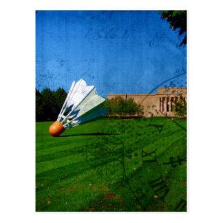Shuttlecock auf dem Rasen Postkarte