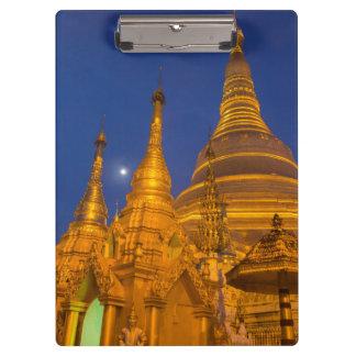Shwedagon Pagode nachts, Myanmar Klemmbrett