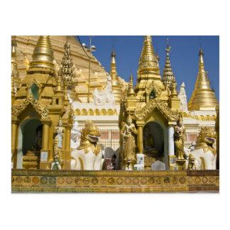 Shwedagon Pagode (Paya), großer Tempelstandort das Postkarte