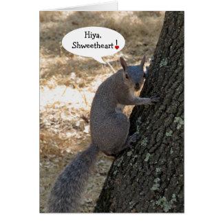 Shweetheart Eichhörnchen-Valentinstag-Karte Karte