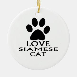 SIAMESEaLOVE SIAMESISCHER CAT-ENTWÜRFE Keramik Ornament