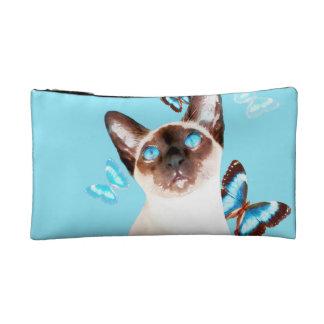 Siamesisch und Schmetterlinge Makeup-Tasche