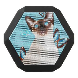 Siamesisch und Schmetterlinge Schwarze Bluetooth Lautsprecher