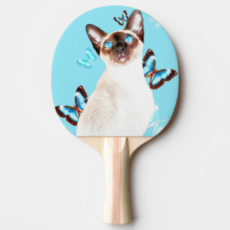 Siamesisch und Schmetterlinge Tischtennis Schläger