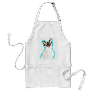 Siamesische CatWatercolor Kunst Schürze