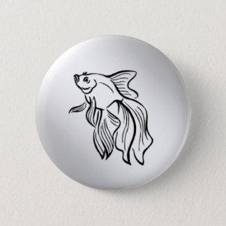 Siamesische kämpfende Fische Runder Button 5,7 Cm