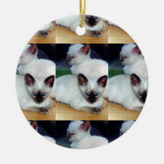 Siamesische Kätzchen-Verzierung Keramik Ornament