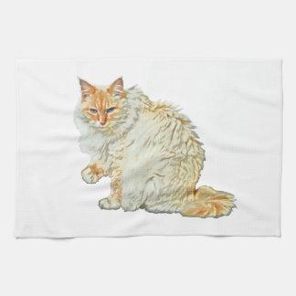 Siamesische Katze 2 des Flammenpunktes Geschirrtuch