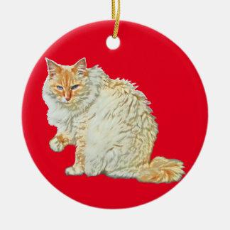 Siamesische Katze 2 des Flammenpunktes Keramik Ornament