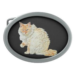 Siamesische Katze 2 des Flammenpunktes Ovale Gürtelschnallen