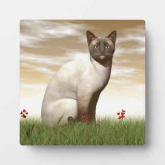 Siamesische Katze Fotoplatte