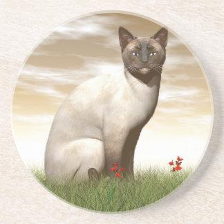 Siamesische Katze Getränkeuntersetzer