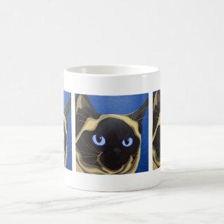 Siamesische Katze Kaffeetasse