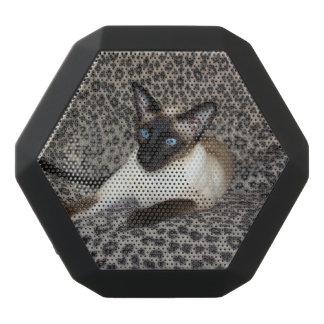 Siamesische Katze mit Leopard-Druck-wildes Schwarze Bluetooth Lautsprecher