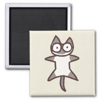 Siamesische Katze Quadratischer Magnet