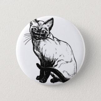 Siamesische Katze Runder Button 5,1 Cm