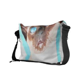 Siamesische Katzen-Aquarell-Kunst Kuriertaschen
