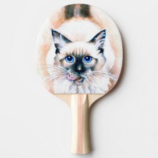Siamesische Katzen-Aquarell Tischtennis Schläger