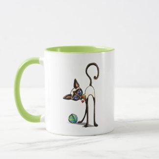 Siamesische Katzen-Garn-Dieb Tasse