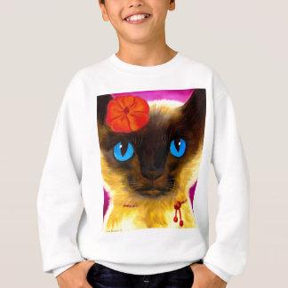 Siamesische Katzen-katzenartige Kunst-Malerei - Sweatshirt