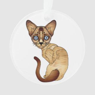 Siamesische Katzen-Kreis-Verzierung Ornament