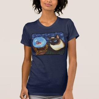 Siamesische Katzen-Kristallball Koi T Shirts