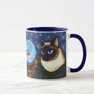 Siamesische Katzen-Kristallball Koi Tasse