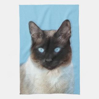 Siamesische Katzen-Malerei - niedliche Geschirrtuch