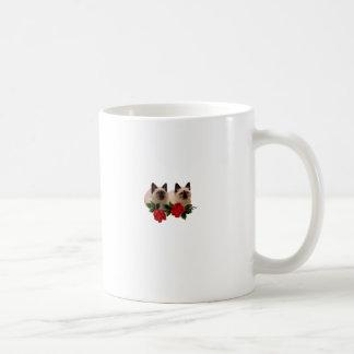 Siamesische Katzen-Rose Kaffeetasse