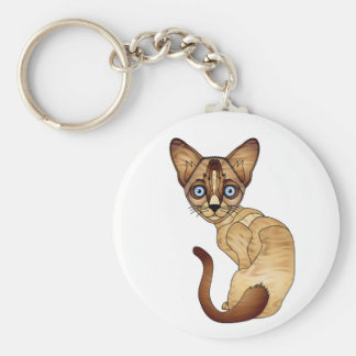 Siamesische Katzen-Schlüsselkette Schlüsselanhänger