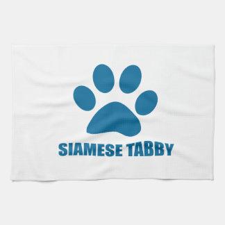 SIAMESISCHE TABBYcat-ENTWÜRFE Küchentuch