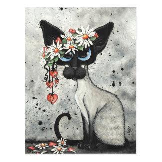 Siamesische Valentinsgruß-Herzen Postkarte
