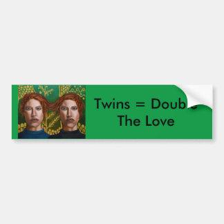 Zwillinge autoaufkleber for Originelle geschenke fa r zwillinge