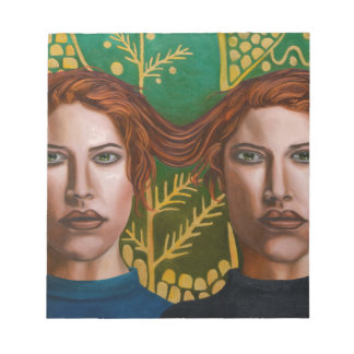 Siamesische Zwillinge 5 Notizblock