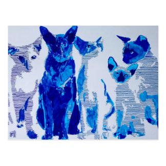 Siamesischen Katzen Postkarte