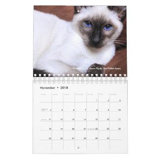 Siamesischer Kalender der Abgabe-2018