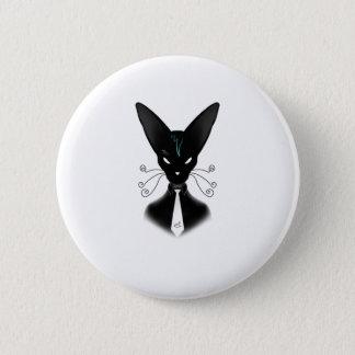Siamesischer schwarze Katzen-Punk Runder Button 5,1 Cm