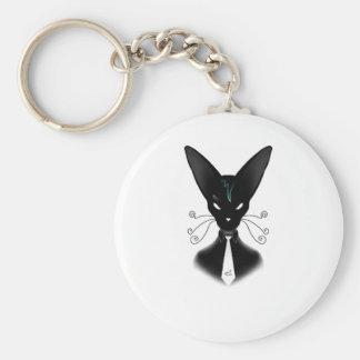 Siamesischer schwarze Katzen-Punk Schlüsselanhänger