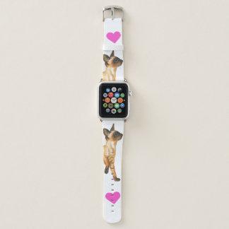 Siamesisches Kätzchen-Liebe Apple-Uhrenarmband Apple Watch Armband